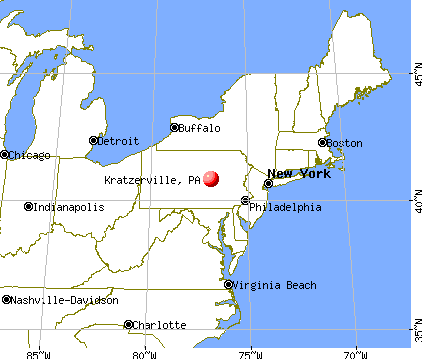 Kratzerville, Pennsylvania map