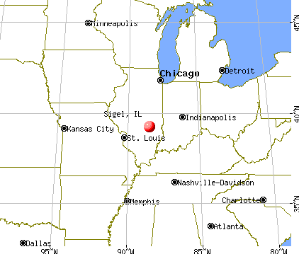 Sigel, Illinois map