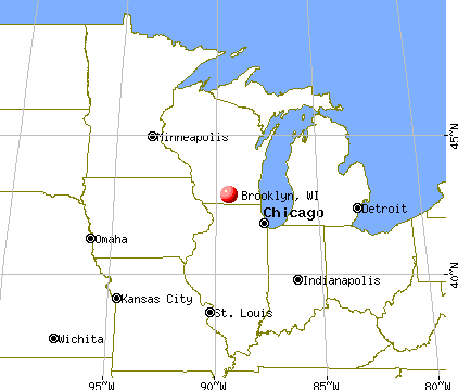 Brooklyn, Wisconsin map