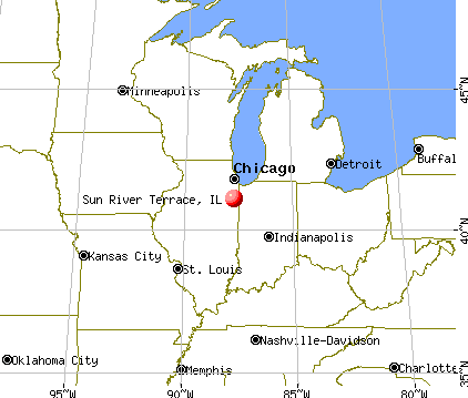 Sun River Terrace, Illinois map