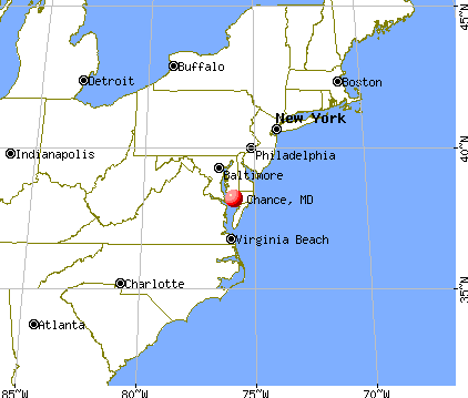 Chance, Maryland map