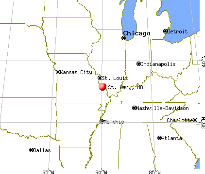 St. Mary, Missouri map