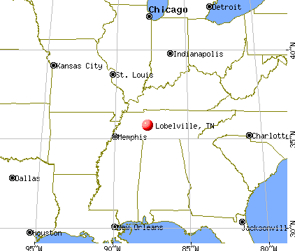 Lobelville, Tennessee map