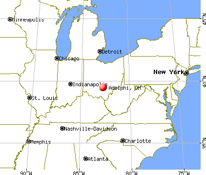 Adelphi, Ohio map