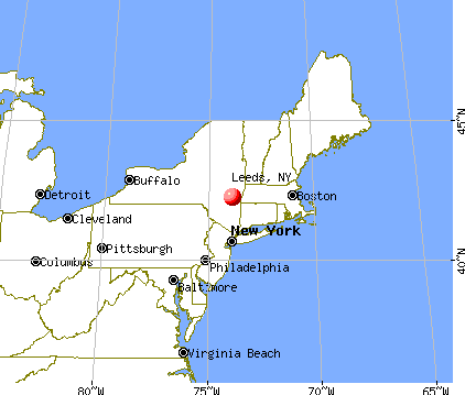 Leeds, New York map