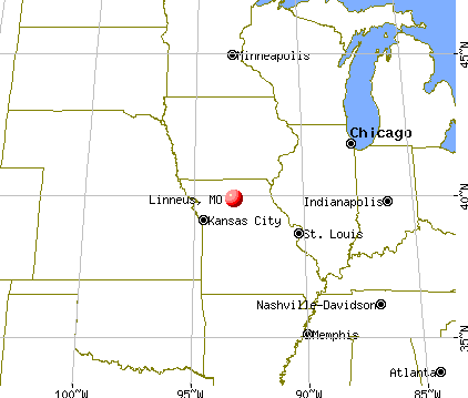 Linneus, Missouri map