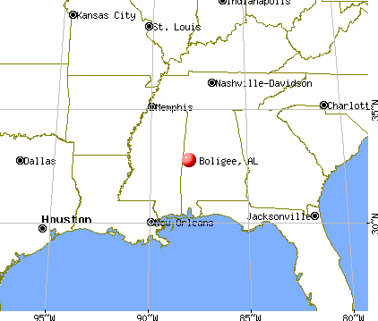 Boligee, Alabama map