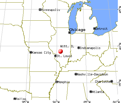 Witt, Illinois map