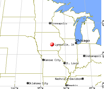 Lynnville, Iowa map