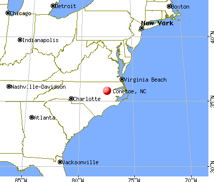 Conetoe, North Carolina map