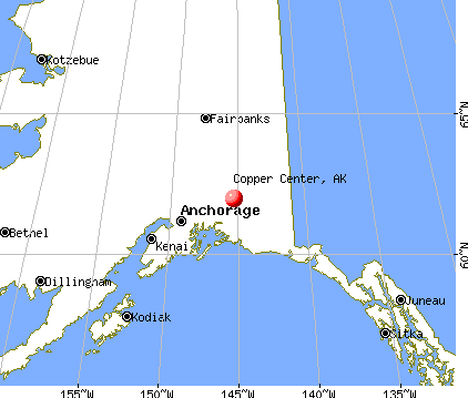 Copper Center, Alaska map