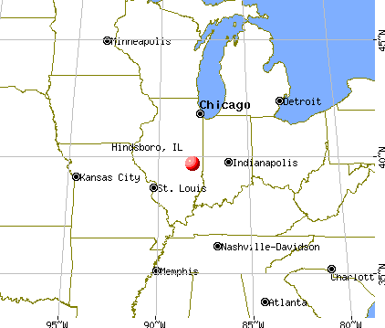 Hindsboro, Illinois map