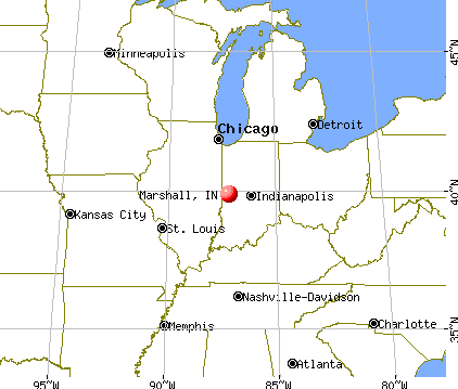 Marshall, Indiana map