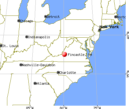 Fincastle, Virginia map