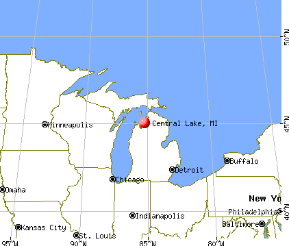 Central Lake, Michigan map