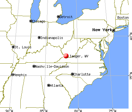 Iaeger, West Virginia map