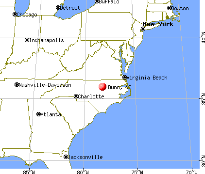 Bunn, North Carolina map