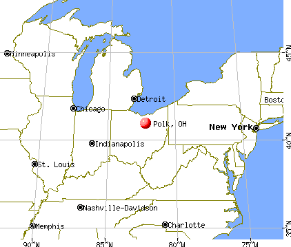 Polk, Ohio map