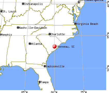Bonneau, South Carolina map