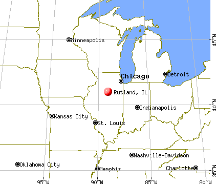 Rutland, Illinois map