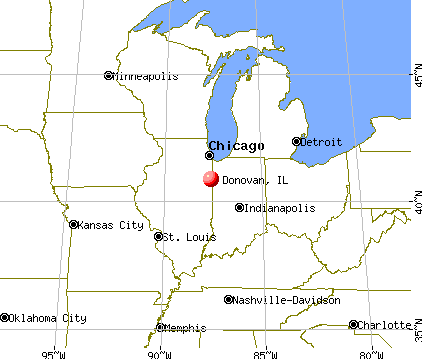 Donovan, Illinois map