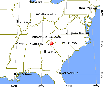 Highlands, North Carolina map