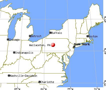 Wallaceton, Pennsylvania map