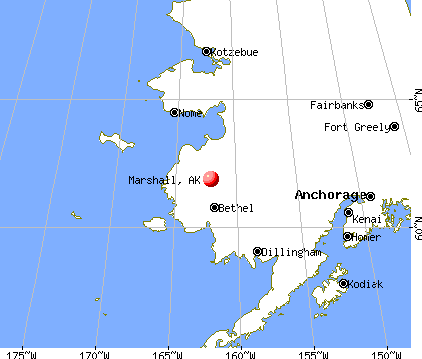 Marshall, Alaska map