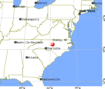 Staley, North Carolina map