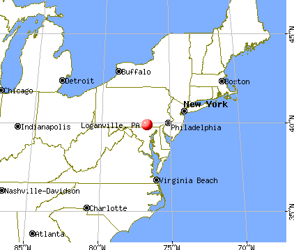 Loganville, Pennsylvania map