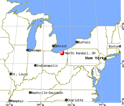North Randall, Ohio map