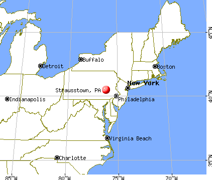 Strausstown, Pennsylvania map
