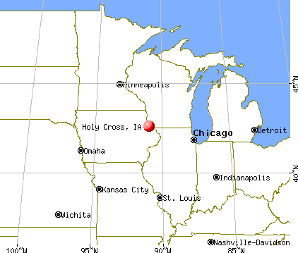 Holy Cross, Iowa map