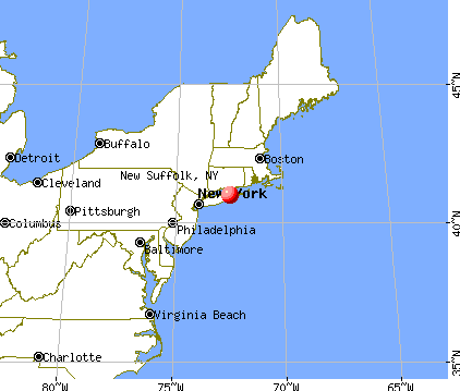 New Suffolk, New York map