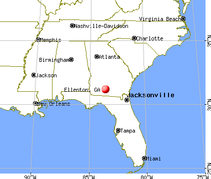 Ellenton, Georgia map