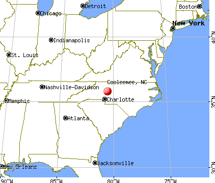 Cooleemee, North Carolina map
