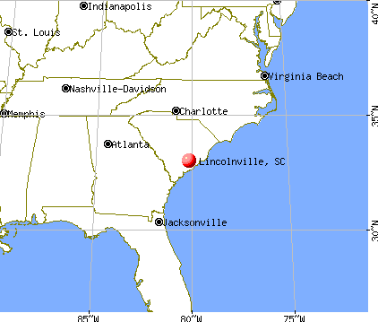 Lincolnville, South Carolina map