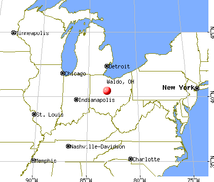 Waldo, Ohio map