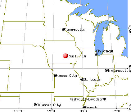 Sully, Iowa map