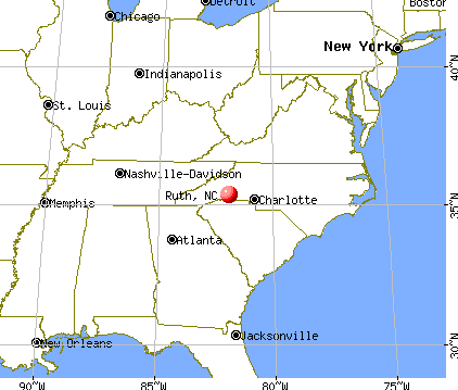 Ruth, North Carolina map