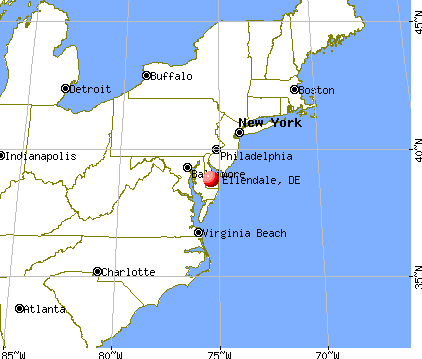 Ellendale, Delaware map