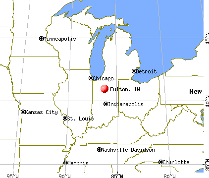 Fulton, Indiana map