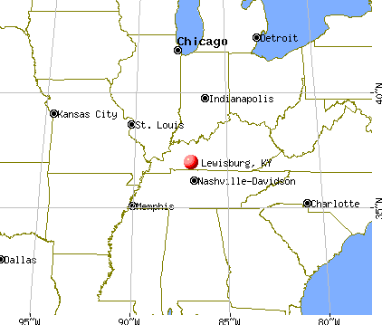 Lewisburg, Kentucky map