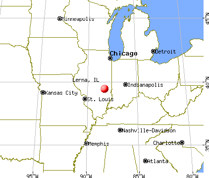 Lerna, Illinois map