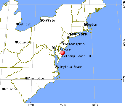Bethany Beach, Delaware map