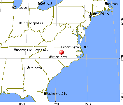Fearrington, North Carolina map