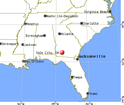 Sale City, Georgia map