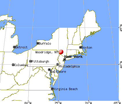 Woodridge, New York map