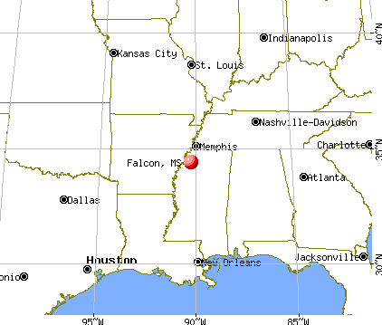 Falcon, Mississippi map
