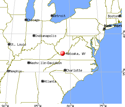 Matoaka, West Virginia map